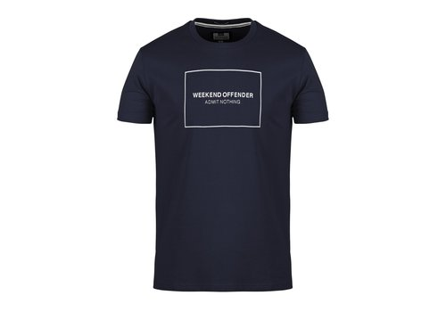 Weekend Offender Weekend Offender Box outline t-shirt Navy