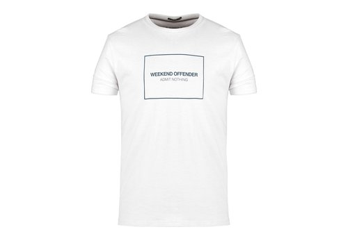 Weekend Offender Weekend Offender Box outline t-shirt White