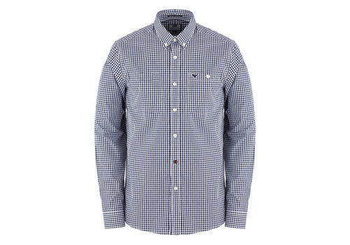 Weekend Offender Weekend Offender Gingham check long sleeve shirt Navy/White