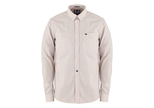 Weekend Offender Weekend Offender Gingham check long sleeve shirt Stone/White