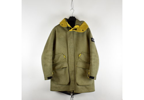 Stone Island Stone Island yellow brown man made suede parka L