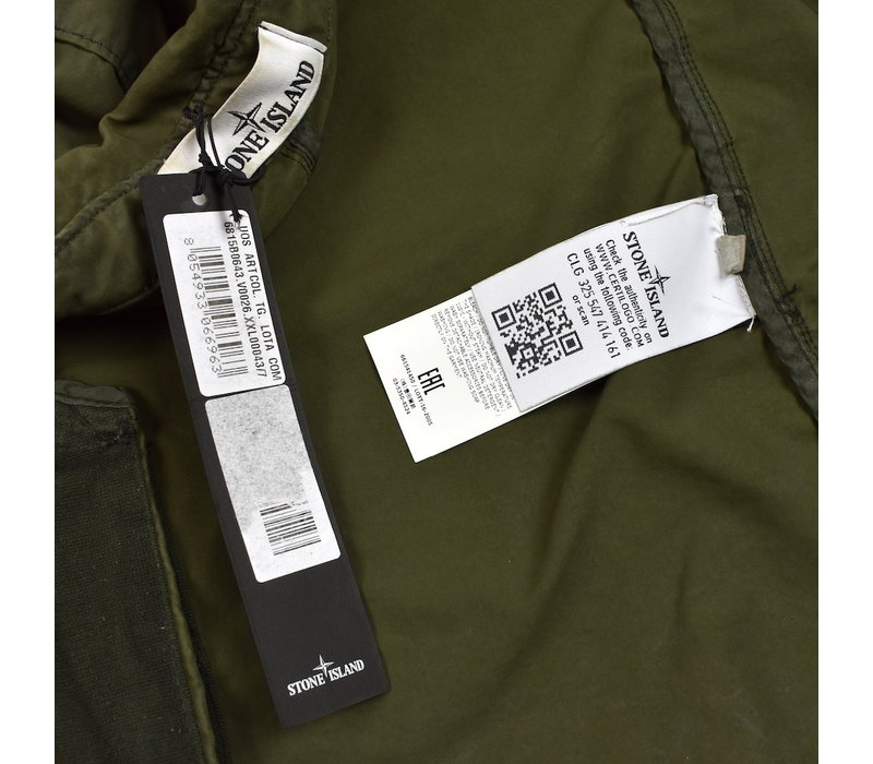 Stone Island green david-tc with dust colour treatment trench coat XXL