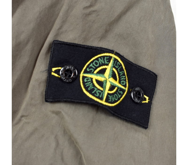 Stone Island brown cotton lined overshirt jacket XL