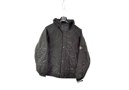 Stone Island Stone Island black quilted padded nylon metal jacket L