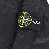 Stone Island black quilted padded nylon metal jacket L