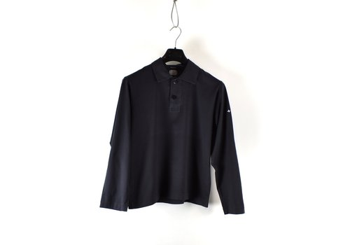 Stone Island Stone Island Denims black compass logo long sleeve polo shirt M