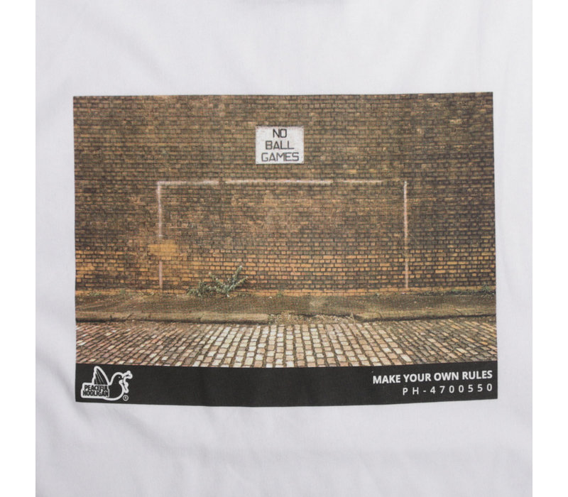 Peaceful Hooligan Goal t-shirt White