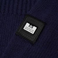 Weekend Offender Lugo full zip knit sweater Navy