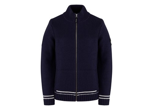 Weekend Offender Weekend Offender Lugo full zip knit sweater Navy