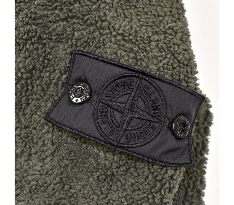 Stone Island shadow project green terry cotton fleece hooded sweatshirt XL