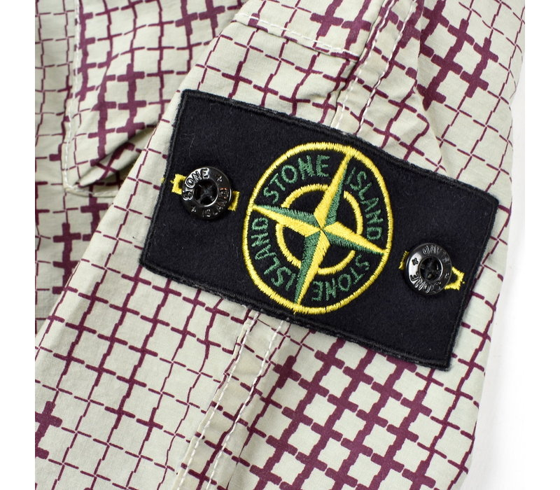 Stone Island full compact rip stop SI check grid camo cargo pants 28