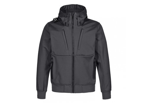 MA.STRUM MA.STRUM velo hooded softshell Jet Black