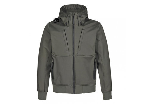 MA.STRUM MA.STRUM velo hooded softshell Dark Khaki Green