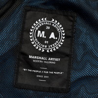 Marshall Artist garment dyed parachute overshirt Aqua