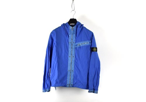 Stone Island Stone Island blue spalmatura coated nylon hooded jacket XL