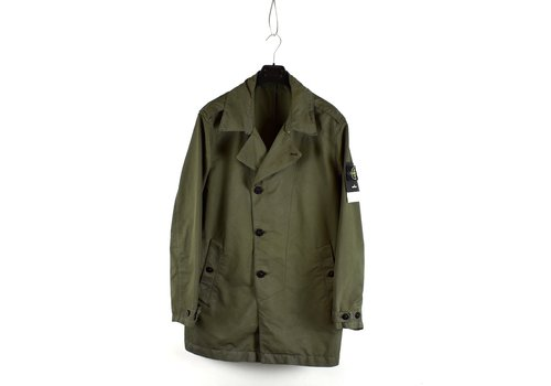 Stone Island Stone Island green david-tc with dust colour treatment trench coat XXL