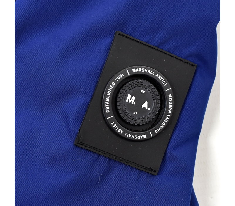 Marshall Artist shimmer fishtail parka Ink blue