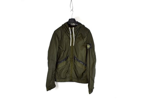 Stone Island Stone Island green membrana tc hooded jacket L