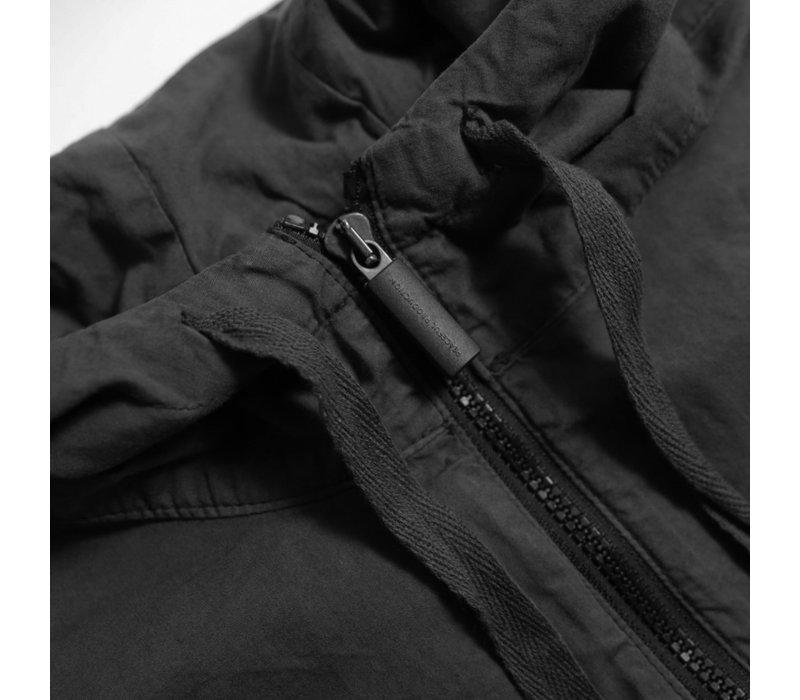 Peaceful Production hood overshirt Black