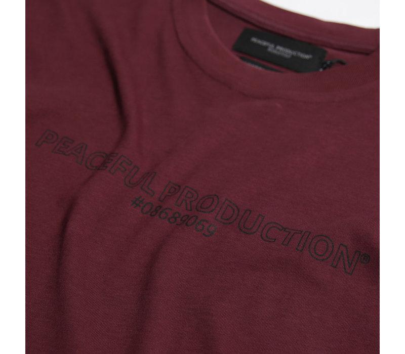 Peaceful Production fix logo t-shirt Zinfandel