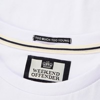 Weekend Offender Rogue series Bovver t-shirt White