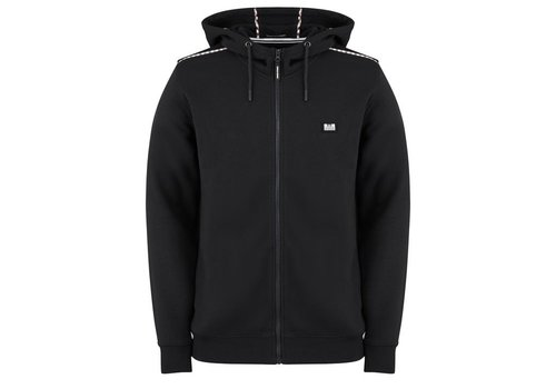 Weekend Offender Weekend Offender Sodium full zip hooded sweatshirt Black