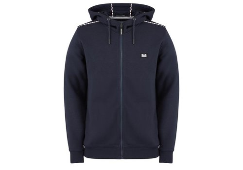 Weekend Offender Weekend Offender Sodium full zip hooded sweatshirt Navy