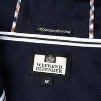 Weekend Offender Sodium full zip hooded sweatshirt Navy
