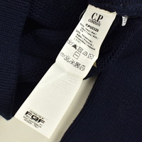 C.P. Company navy heavy wool knit cardigan 52