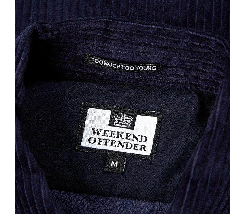 Weekend Offender Palolem cord overshirt jacket Navy