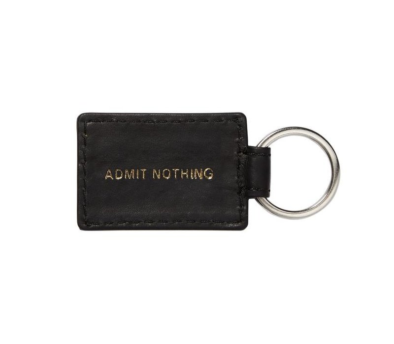 Weekend Offender leather key ring Black