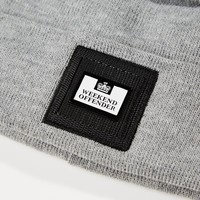 Weekend Offender Pedar knit beanie hat Grey Marl