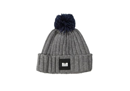 Weekend Offender Weekend Offender Gerdai knit bobble hat Steel Grey