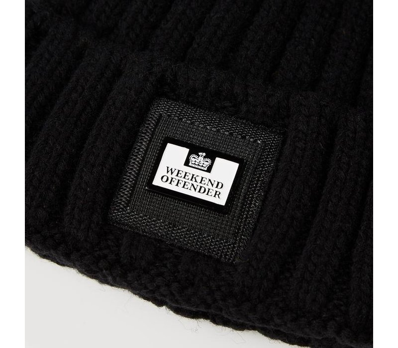 Weekend Offender Gerdai knit bobble hat Black