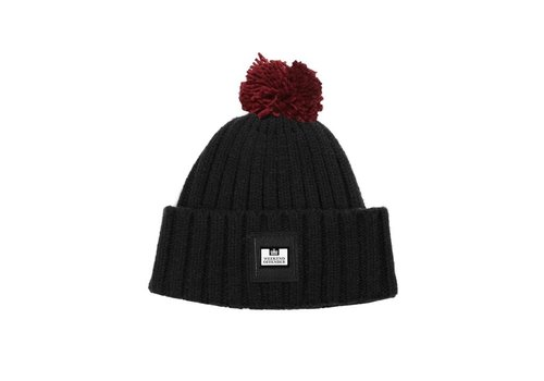Weekend Offender Weekend Offender Gerdai knit bobble hat Black