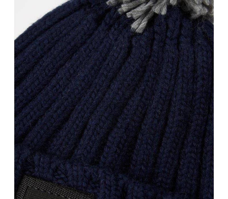 Weekend Offender Gerdai knit bobble hat Navy