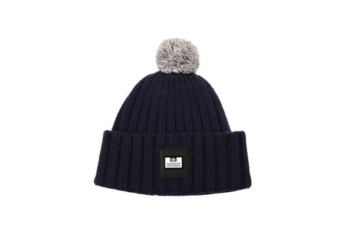 Weekend Offender Weekend Offender Gerdai knit bobble hat Navy