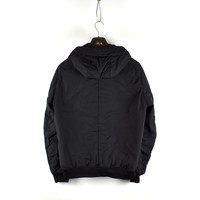 Stone Island black garment dyed crinkle reps ny down jacket L