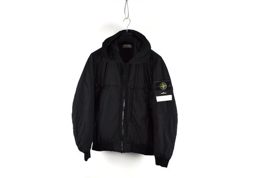 Stone Island Stone Island black garment dyed crinkle reps ny down jacket L