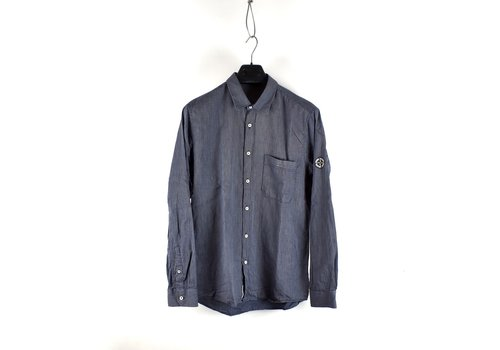 Stone Island Stone Island blue denim long sleeve shirt L