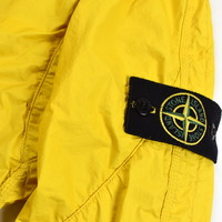 Stone Island yellow membrana tc hooded jacket S