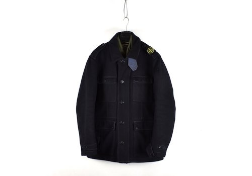 Stone Island Stone Island black panno speciale shoulder badge field jacket XXL