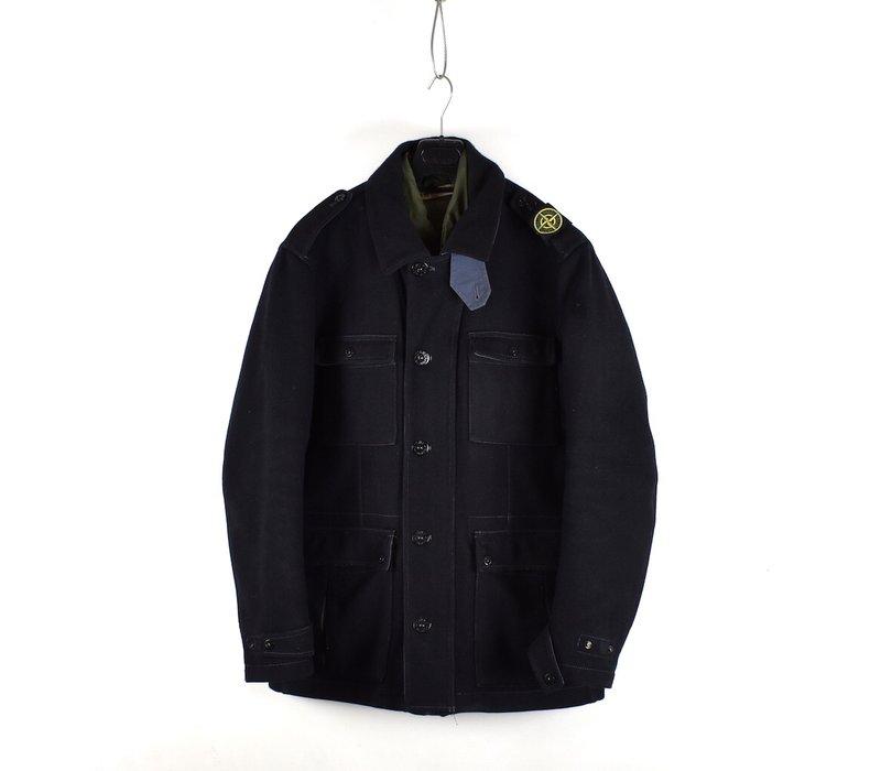 Stone Island black panno speciale shoulder badge field jacket XXL