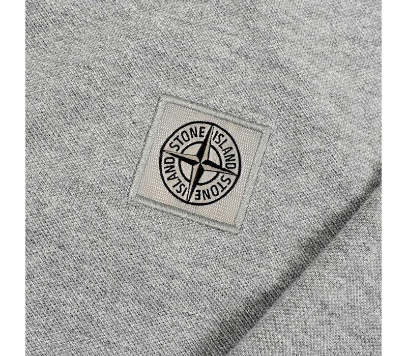 Stone Island grey cotton pique long sleeve patch program polo shirt L