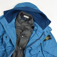 Stone Island blue david-tc down parka XL
