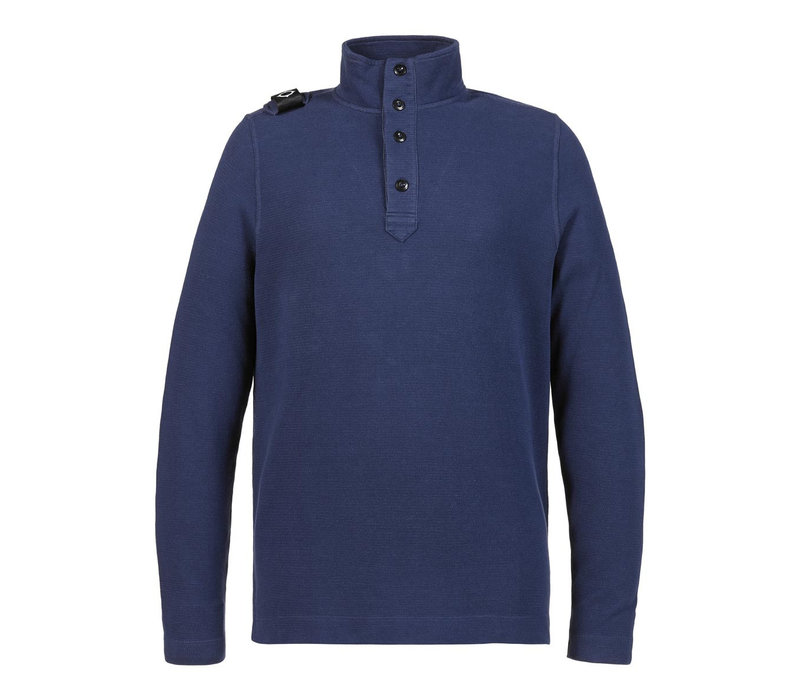 MA.STRUM double-face funnel neck Dark Indigo