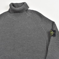 Stone Island grey wool turtleneck knit XXL