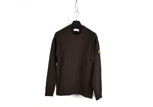 Stone Island Stone Island brown wool ribbed crewneck knit L