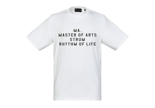 MA.STRUM MA.STRUM SS archive slogan tee Optic White