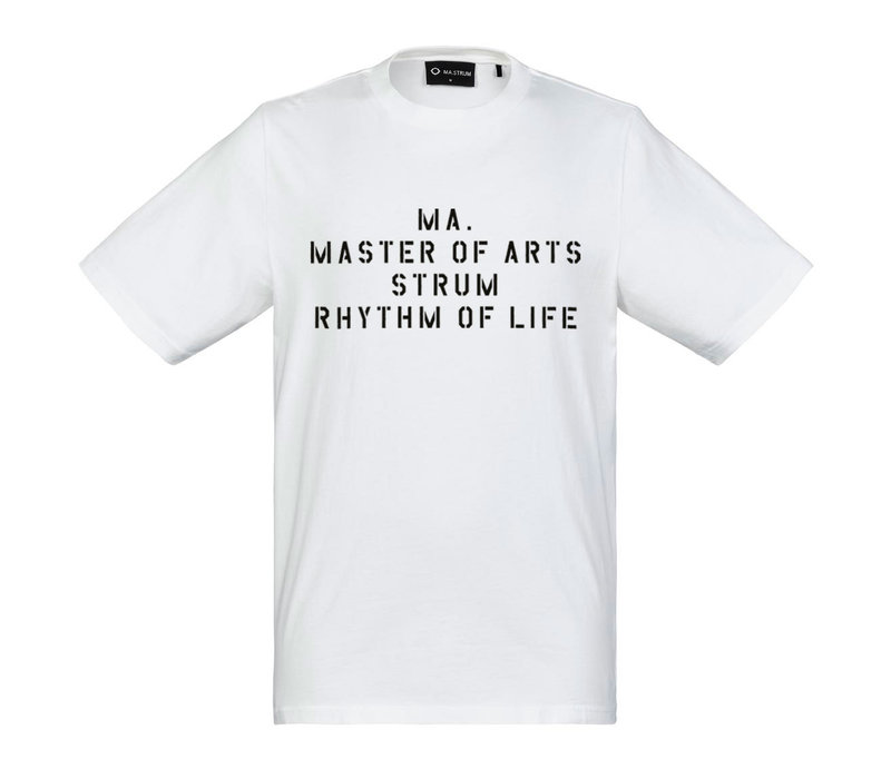 MA.STRUM SS archive slogan tee Optic White